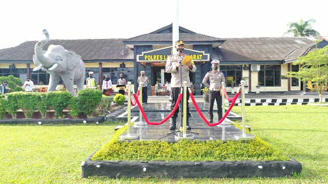 Polres Lampung Barat Gelar Apel Operasi Keselamatan Krakatau 2021