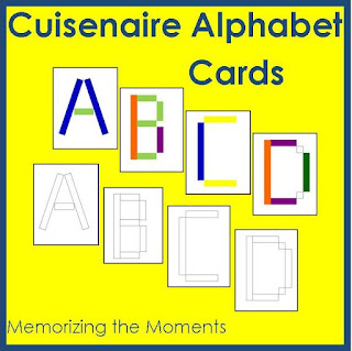 Printable alphabet templates for using with Cuisenaire Rods