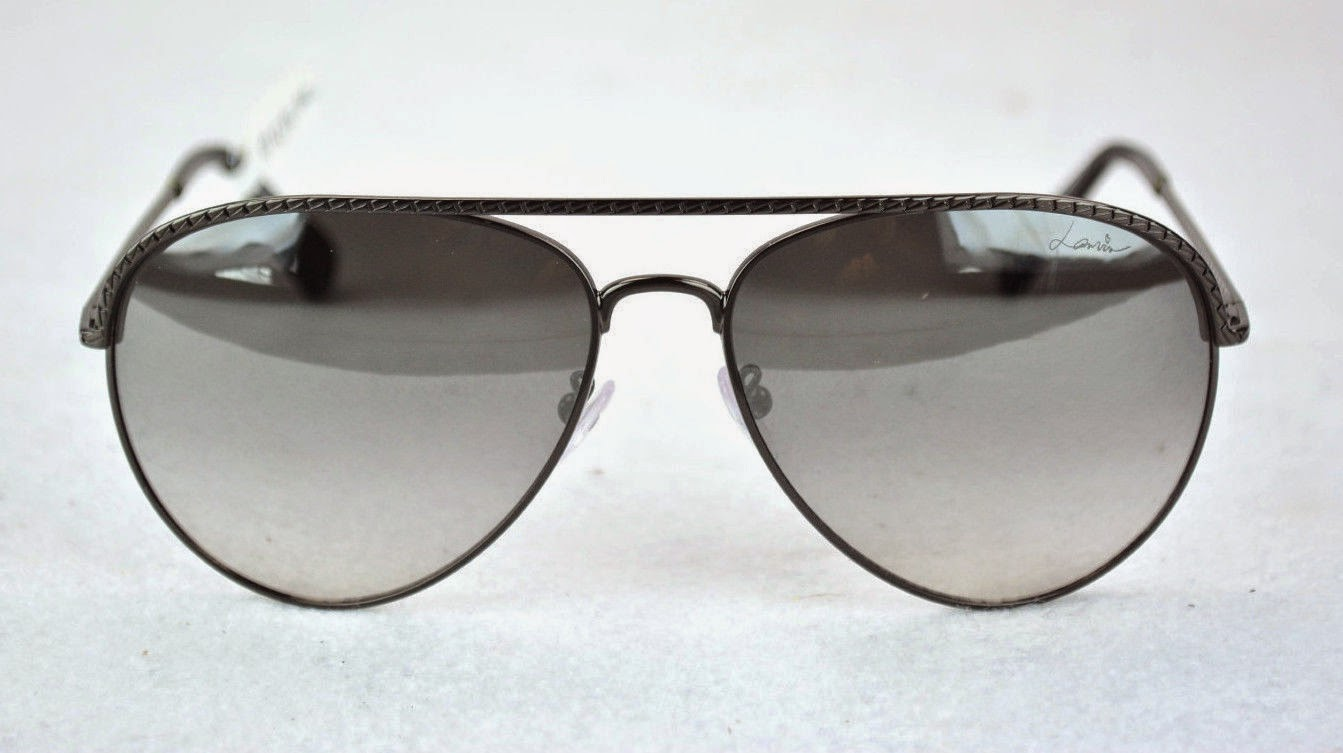 lanvin black metal aviators