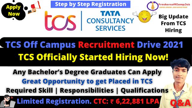 TCS Off Campus Recruitment Drive 2021