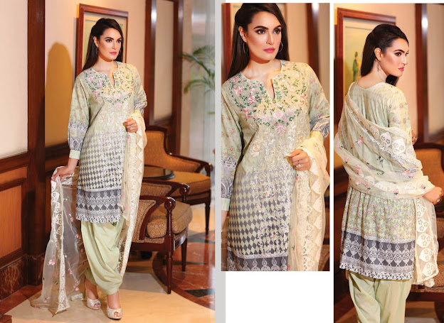 Nadia Hussain off White color suit