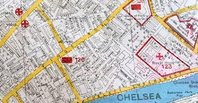 Map from a former Luftwaffe Navigator (Mail Online) dated November 30, 1941 identifying some of the bombing targets in London.