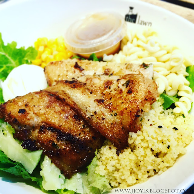 the lawn cafe biopolis review dory fish salad