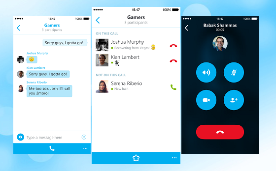 Skype for IOS updated (5.4) with ability to take group calls