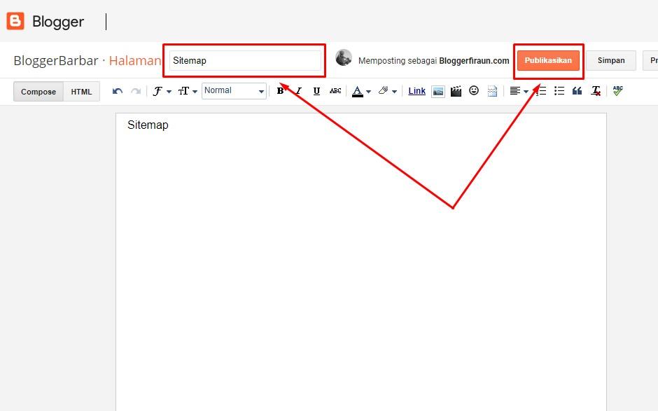 Cara Membuat Sitemap Blogger Mudah Update Februari 2021 Blogger Firaun