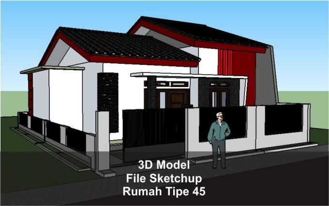 Rumah Tipe 45 File Sketchup