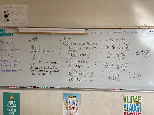 Mrs. Negron 6th Grade Math Class: Lesson 6.1 Ratios