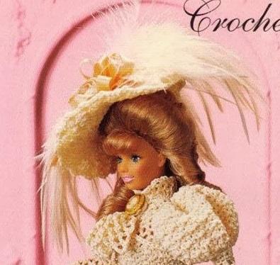 Roupa de Época em Crochê Para Barbie Blusa de Crochê