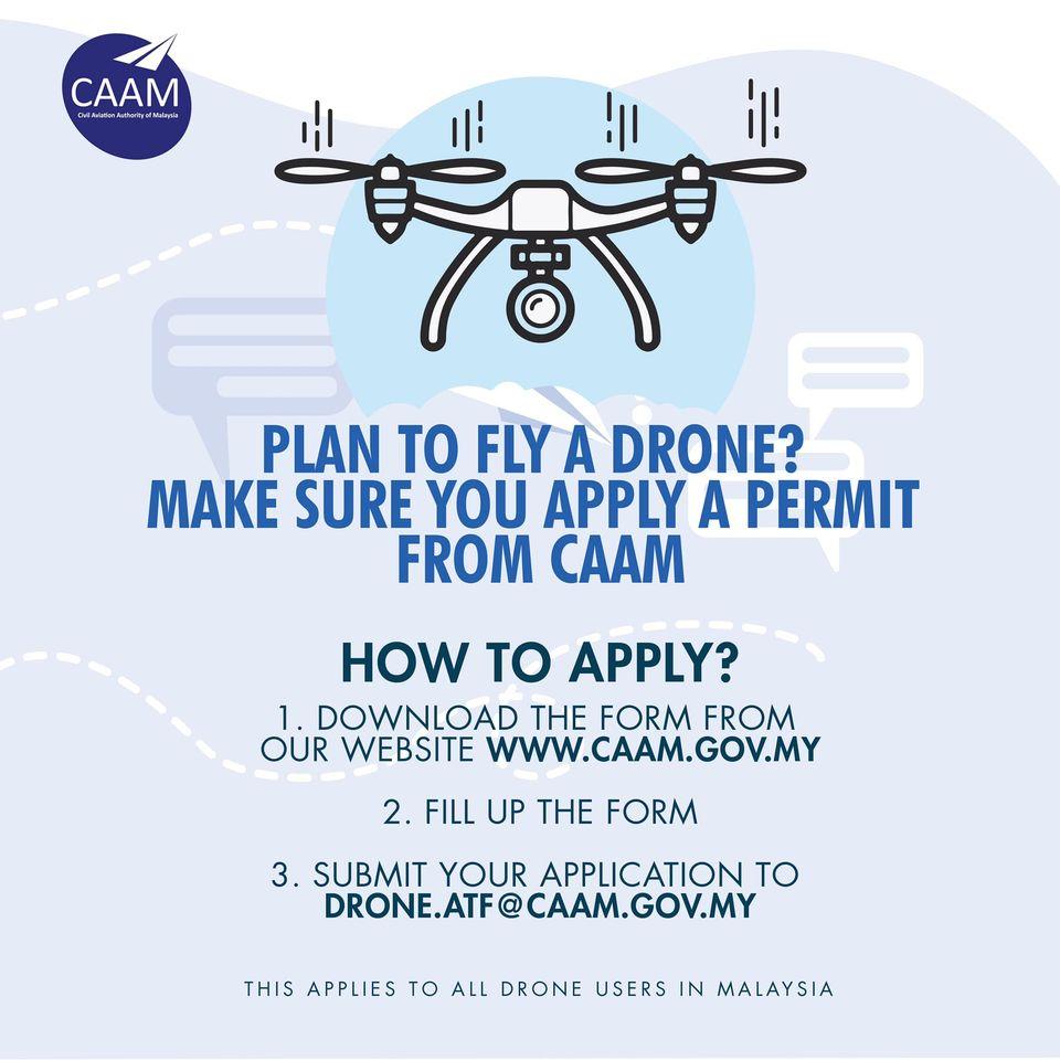 CAAM drone permit application