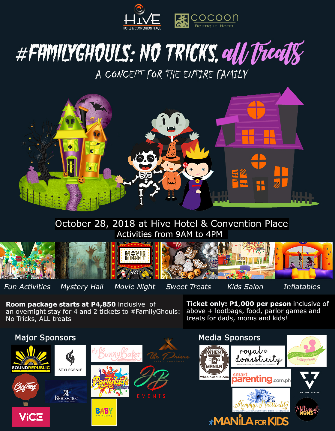 2018 list of halloween trick or treat events in metro manila - mommy