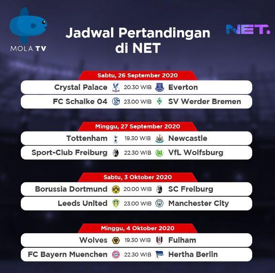 Jadwal Liga Inggris Pekan Ketiga Live Net TV