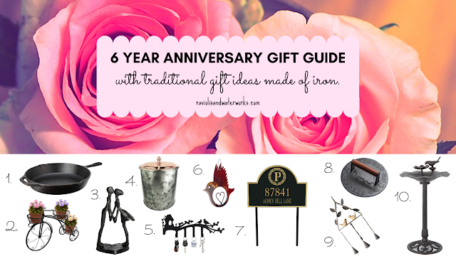 what to buy for a 6 year wedding anniversary for iron