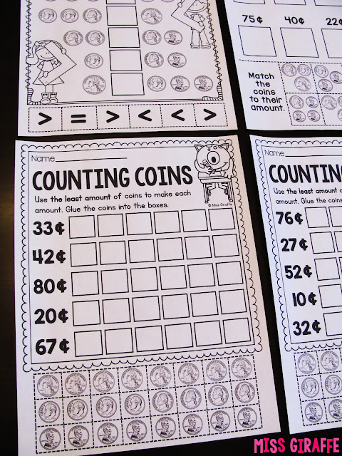 Counting coins worksheets and activities that are hands on and engaging to make learning money fun for your students