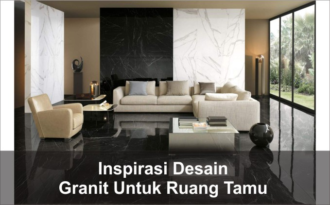 granit lantai ruang tamu