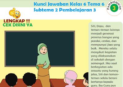 Kunci Jawaban Tematik Kelas 6 Tema 6 Subtema 2 Pembelajaran 3 www.simplenews.me