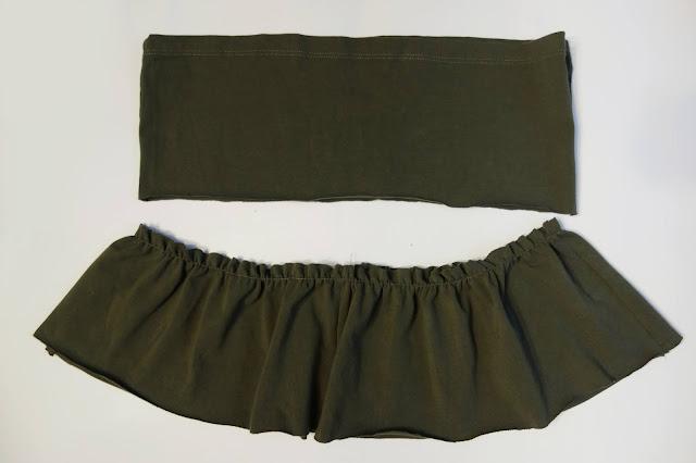 Falbaniasta spódniczka z bluzki