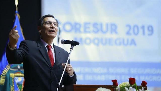 Perú descarta elecciones presidenciales por negativa de Vizcarra