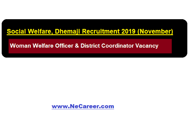 Social Welfare, Dhemaji Recruitment 2019 (November)