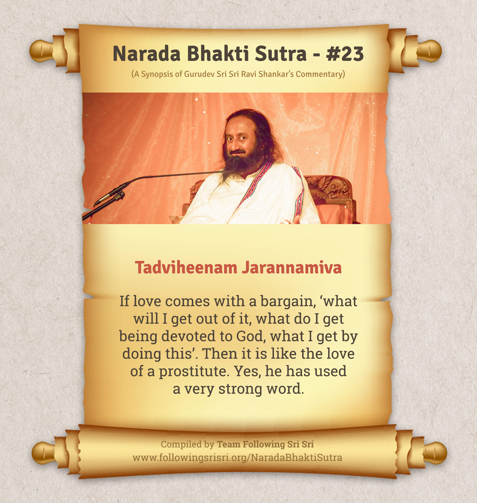 Narada Bhakti Sutras - Sutra 23