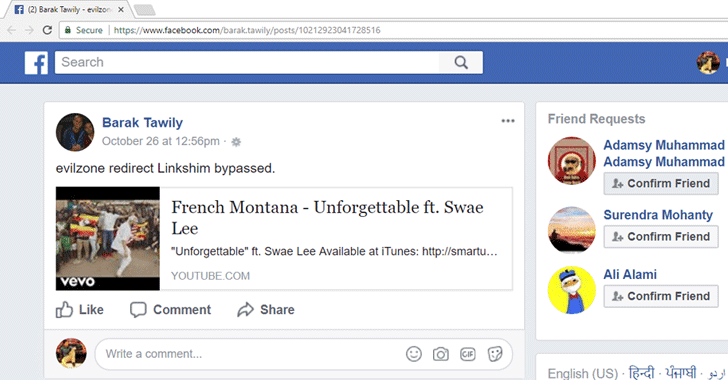 Wait, Do You Really Think That's A YouTube URL? Spoofing Links On Facebook
