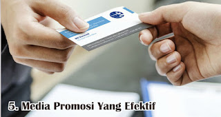 Media Promosi dan Marketing Yang Efektif adalah fungsi kartu nama yang wajib kamu ketahui