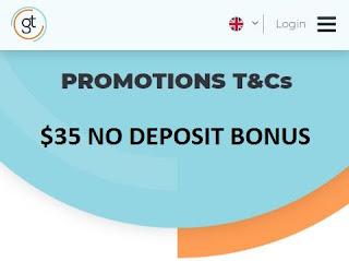 Global GT $35 Forex No Deposit Bonus