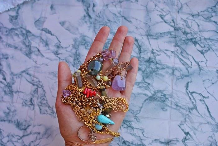 handmade jewelry bracelet necklace stones