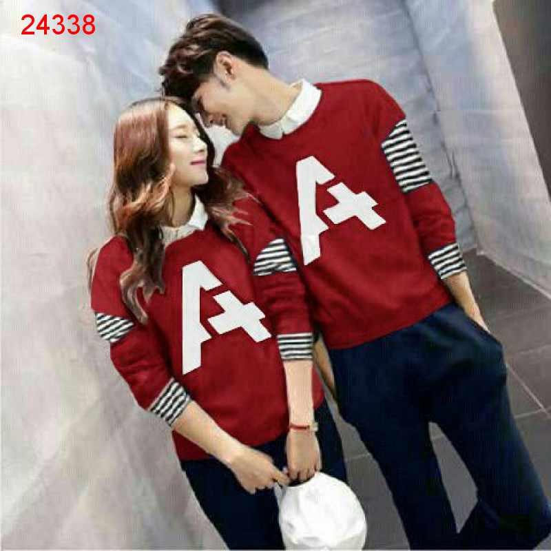 Jual Couple Lengan Panjang LP Alpha Red - 24338
