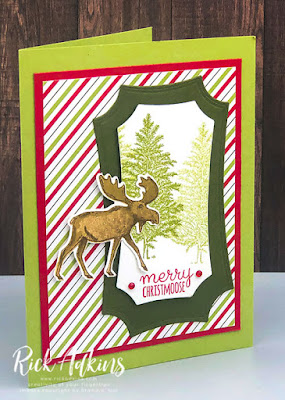 Rick Adkins, Independent Stampin' Up! Demonstrator - Merry Christmoose Card Featuring the Merry Moose Bundle Click to learn more