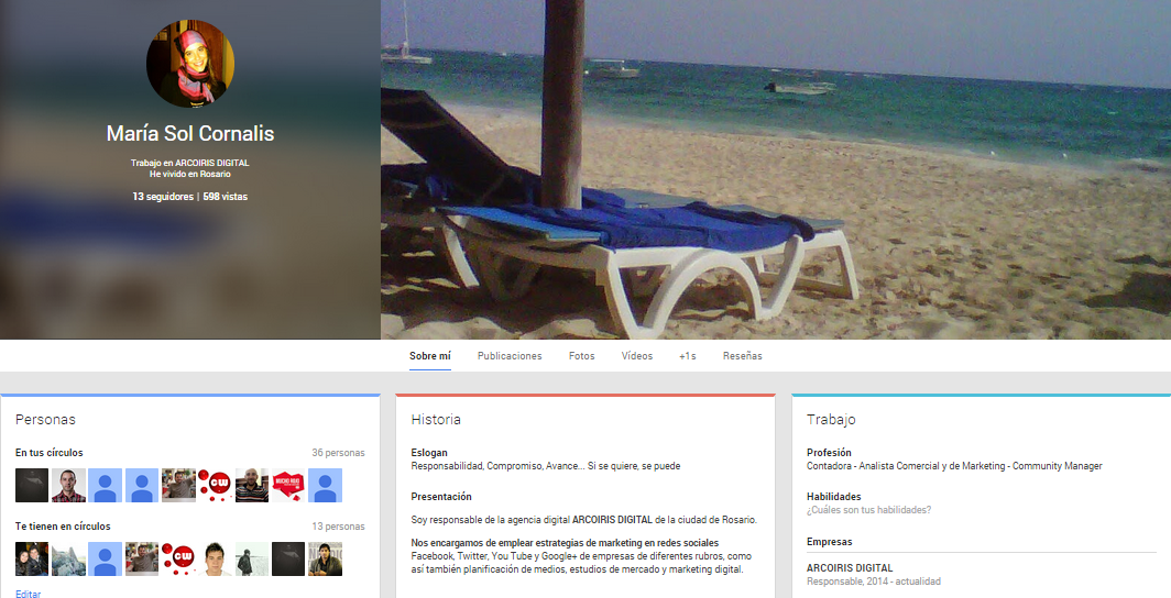 Google Plus es una red social profesional, con mucha informacion