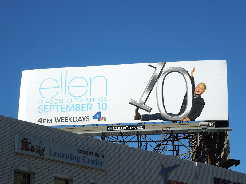 Ellen season 10 talk show billboard
