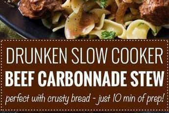 Drunken Slow Cooker Beef Stew
