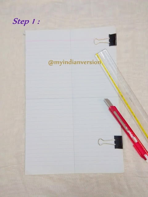 DIY Magnetic Notepad Tutorial - Step 1