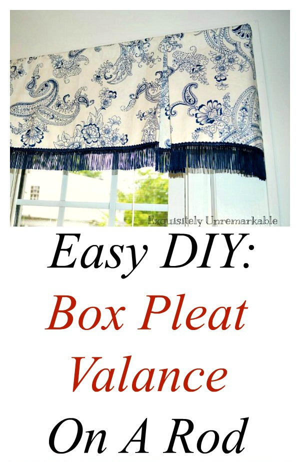 How To Make A Box Pleat Valance
