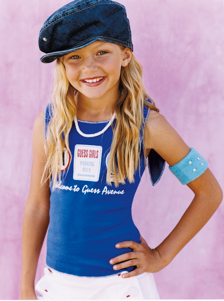Gigi Hadid as a Child Model for Guess Kids