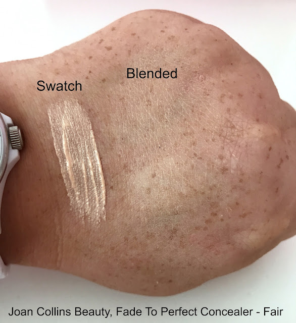 Joan Collins Beauty Fade To Perfect Concealer swatch