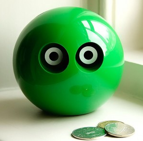 green owl money box