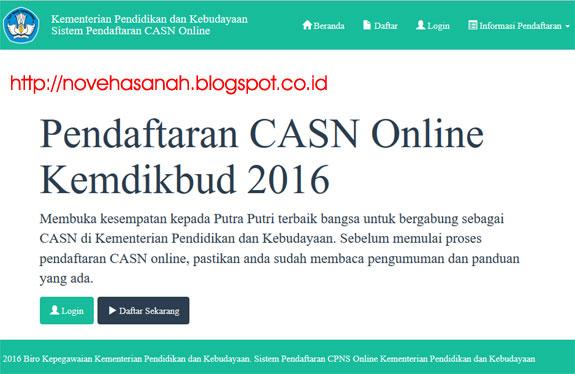 pendaftaran Calon Aparatur Sipil Negara (CASN atau CPNS) di GGD (Guru Garis Depan) Kemdikbud tahun 2016