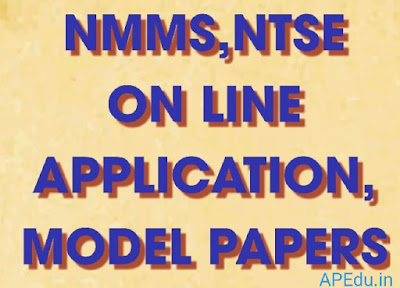 NMMS,NTSE ON LINE APPLICATION, MODEL PAPERS