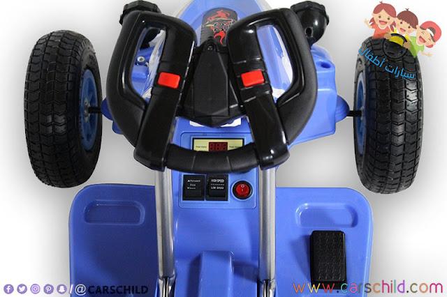 عجلة قيادة سيارة اطفال كهربائية صغيرة