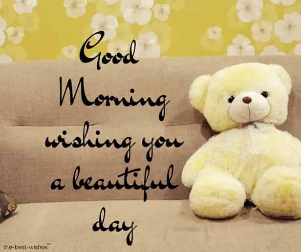 good morning teddy bear messages