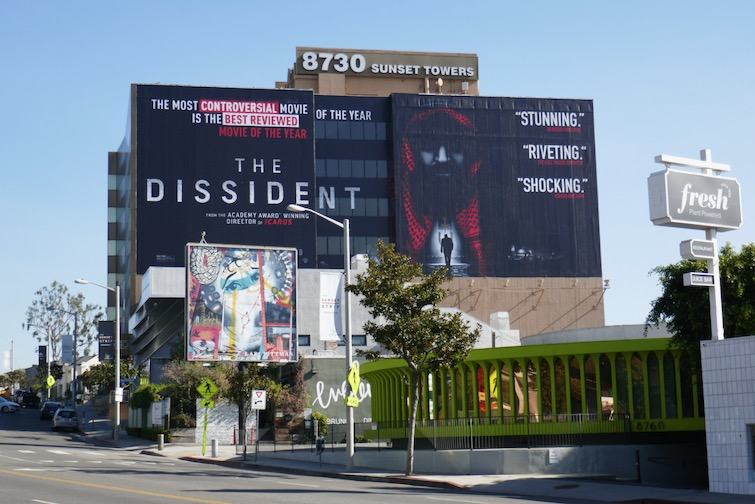 Dissident giant documentary billboard