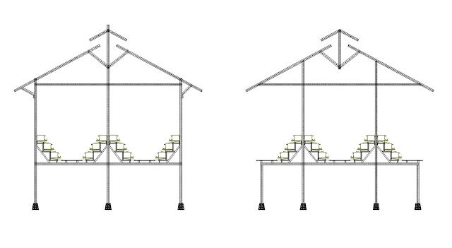 desain kandang baterai ayam petelur
