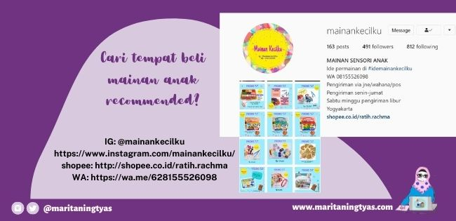 IG mainan kecilku recommended toys seller