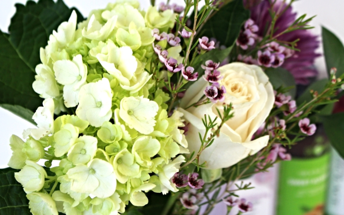 This is a close up of the bouquet of flower typically visible in the background of my videos.