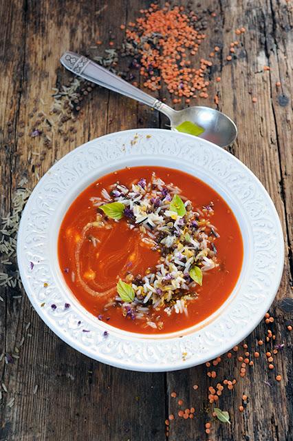 Mon velout� de tomate aux parfums lointains... Parce que l'envie de cuisiner c'est toujours relatif !