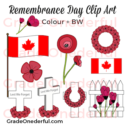 https://www.teacherspayteachers.com/Product/Remembrance-Day-Clipart-1535557