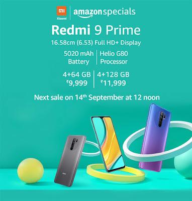 Redmi note 9 prime sale event