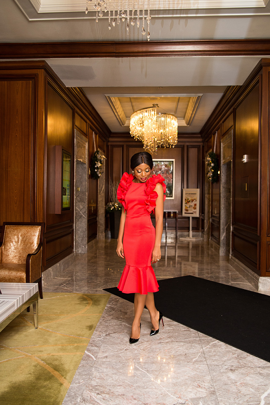 Red dress for the holiday, www.jadore-fashion.com