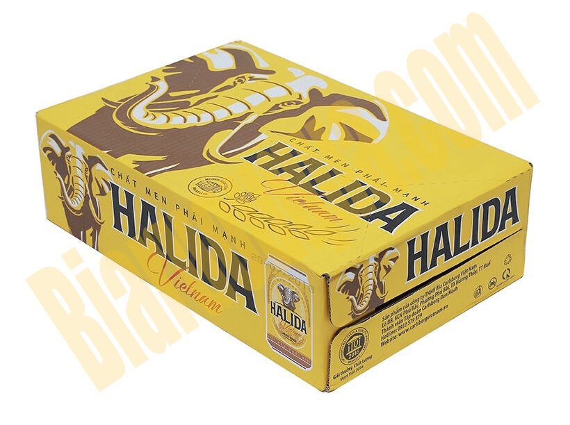 Thùng bia lon Halida 24 chai